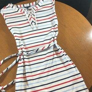 Tommy Hilfiger white striped dress